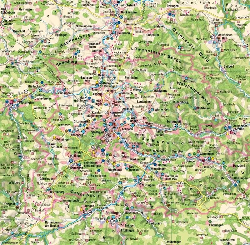 Region Stuttgart | Wirtschaft | Metropolregion Stuttgart | Karte 48/2