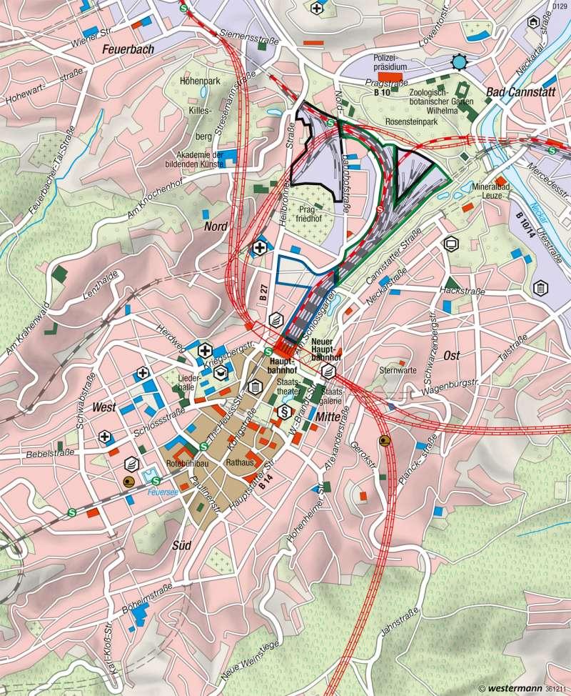 Stuttgart   Stadt- und Verkehrsentwicklung   Metropolregion Stuttgart   Karte 49/3