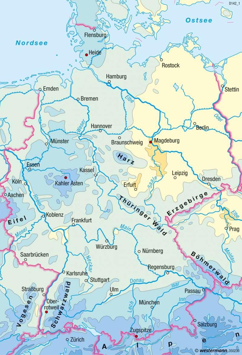 Diercke Weltatlas Kartenansicht Deutschland Niederschlage Im