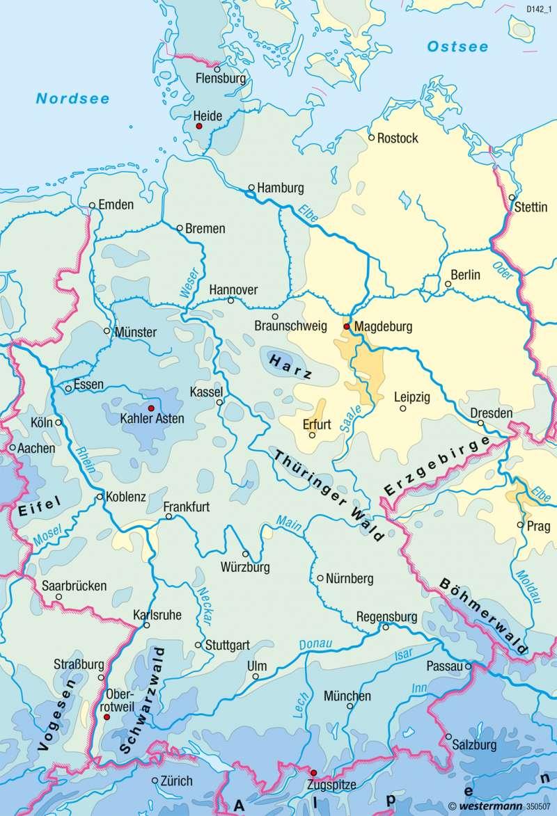 Deutschland | Niederschläge im Jahr | Klima | Karte 35/3