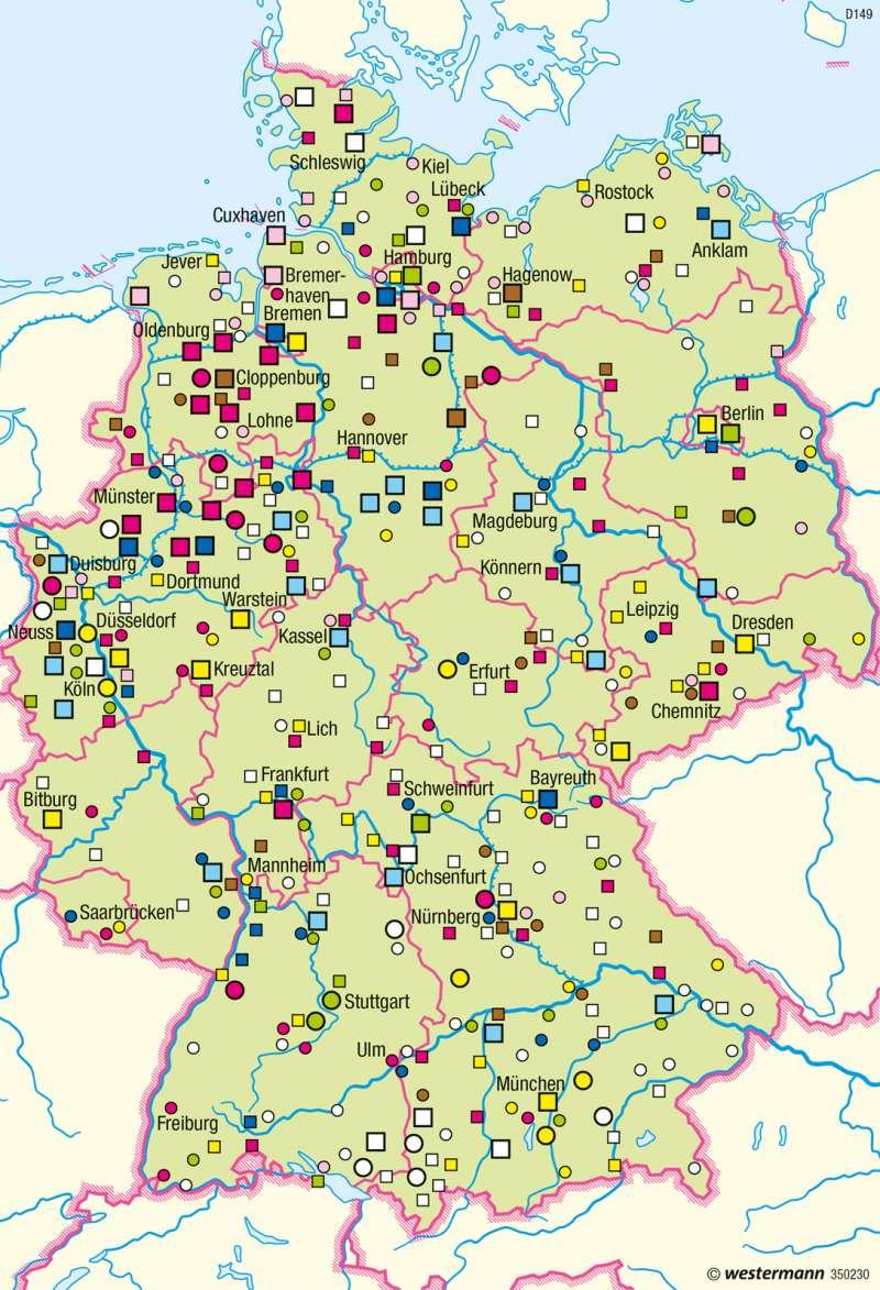 Diercke Weltatlas Kartenansicht Deutschland Verarbeitung