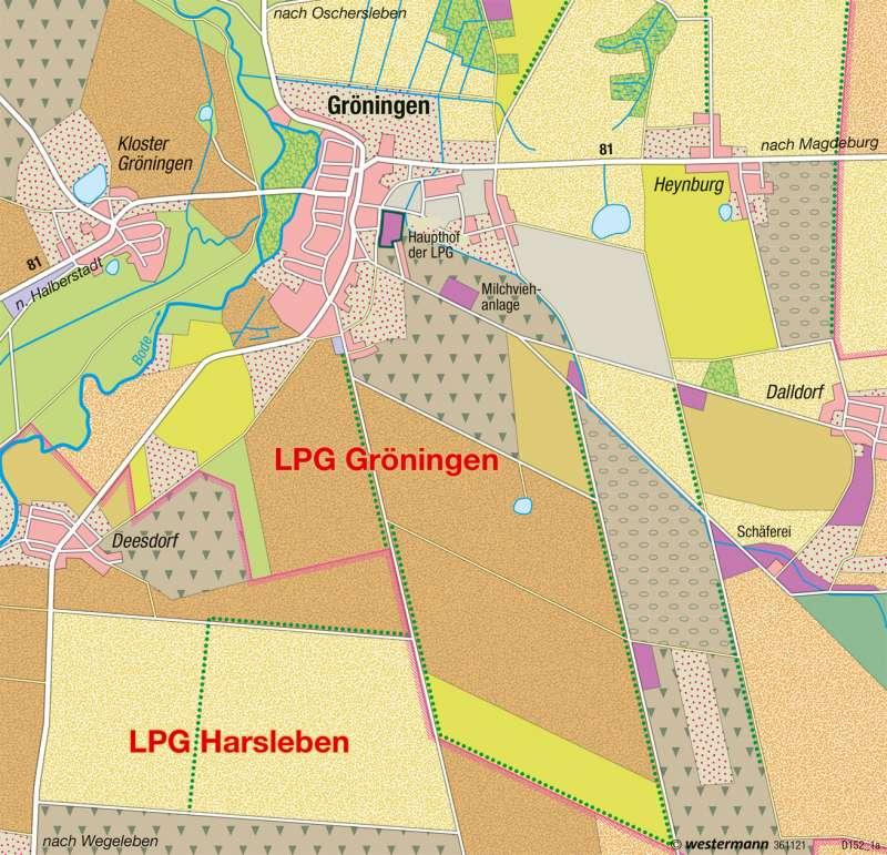 Gröningen (Sachsen-Anhalt) | Strukturwandel in der Börde | Deutschland - Landwirtschaft | Karte 57/4