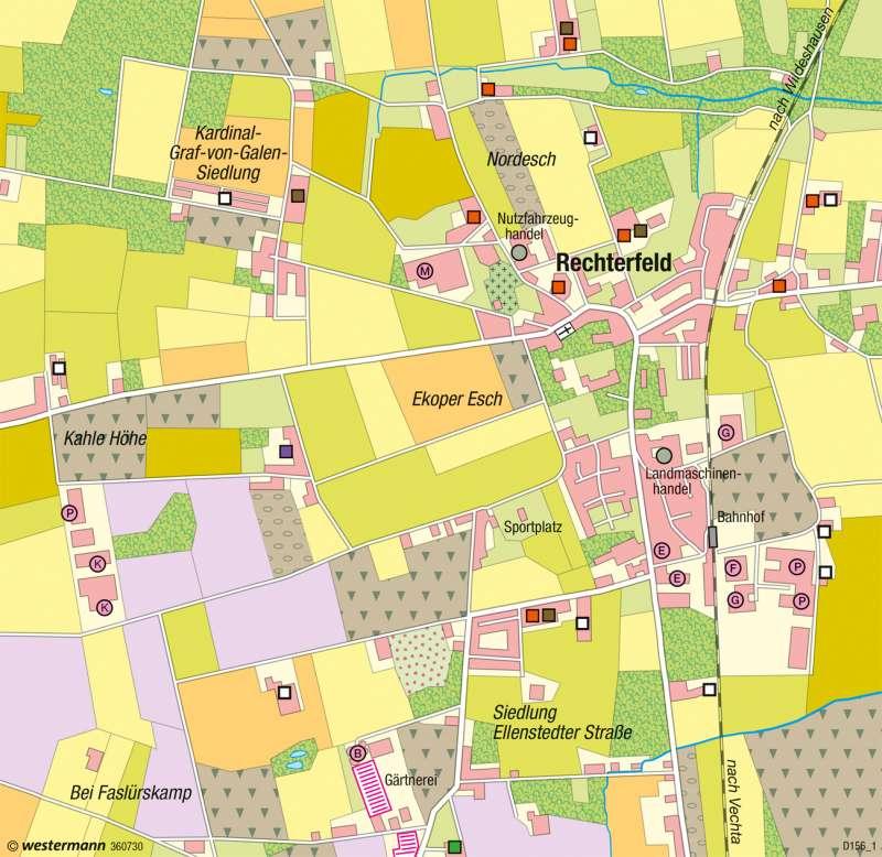 Rechterfeld | Veredelungsbetriebe | Deutschland - Landwirtschaftliche Betriebe | Karte 59/6