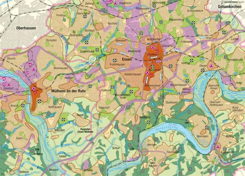 Essen-Mülheim | Stadtklima | Deutschland - Klima | Karte 55/4