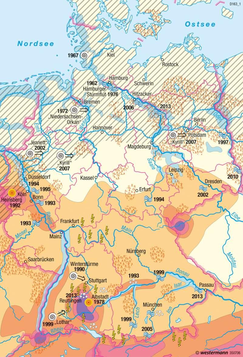 Deutschland | Naturgefahren | Umwelt und Naturgefahren | Karte 32/1