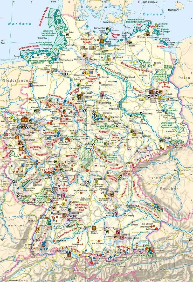 Deutschland | Tourismus | Deutschland - Tourismus | Karte 62/1