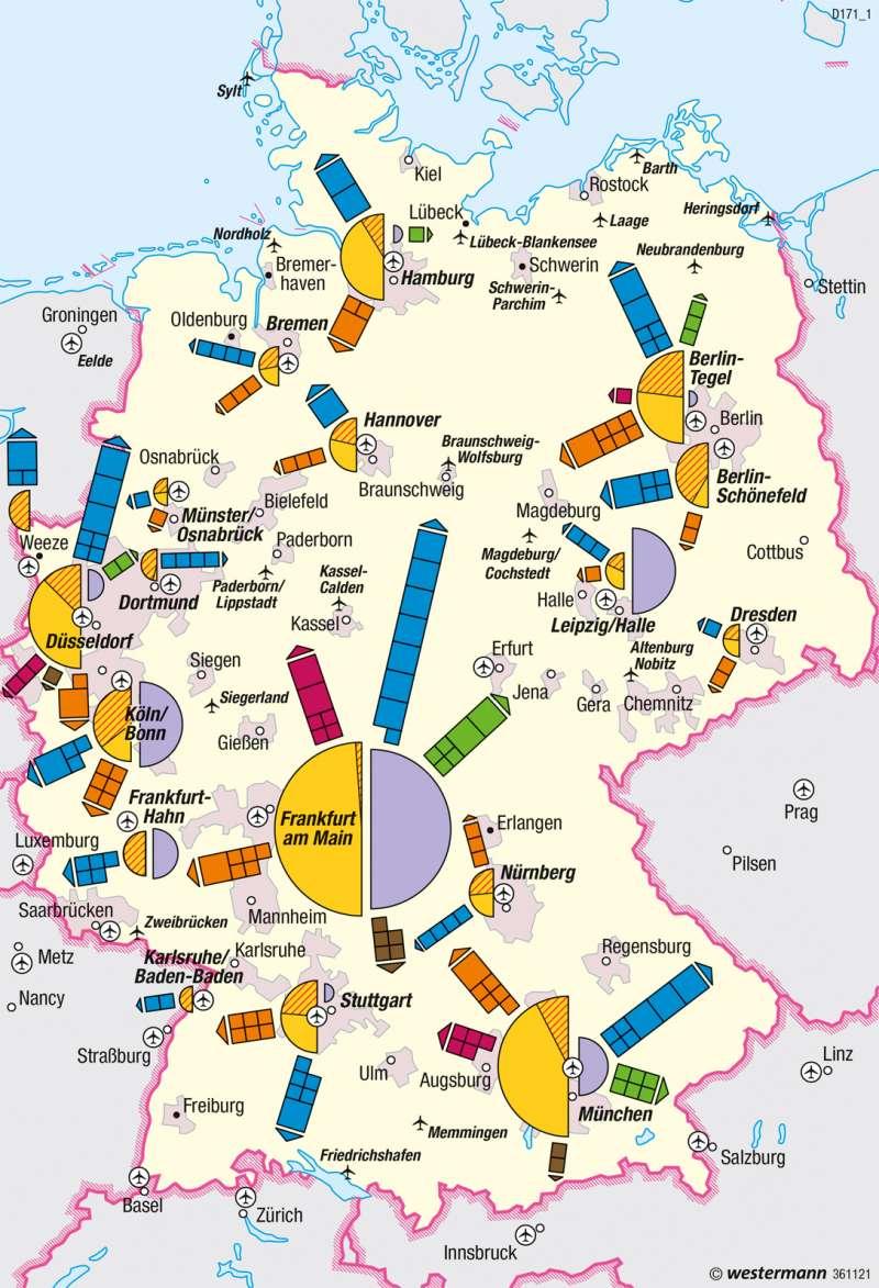 Deutschland | Luftverkehr | Deutschland - Verkehr | Karte 64/3