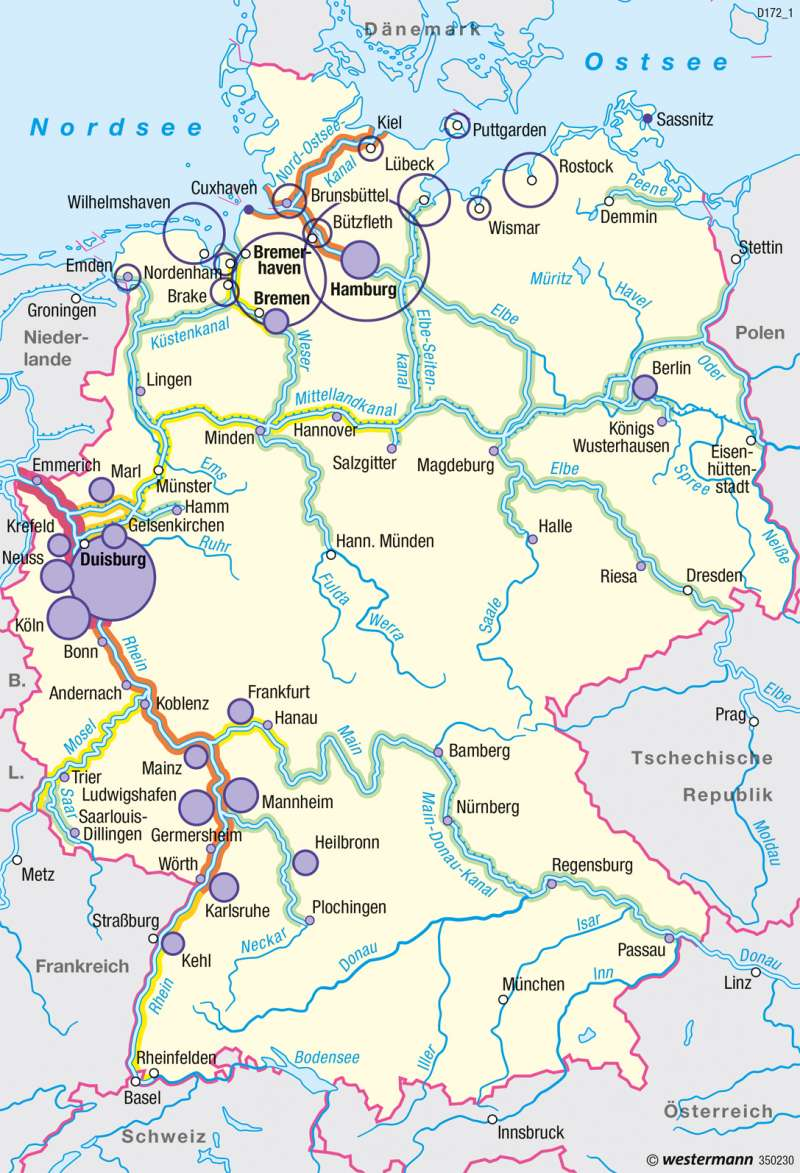 Diercke Weltatlas - Kartenansicht - Deutschland - Schiffsverkehr ... - Bonn Karte Deutschland