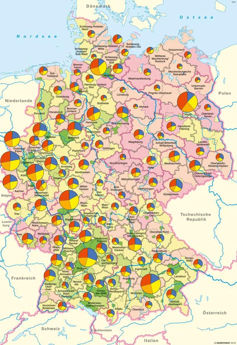 Deutschland | Wirtschaftsstruktur | Wirtschaftsstruktur | Karte 40/1