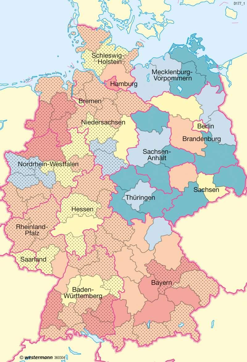 Deutschland   Beschäftigte   Deutschland - Wirtschaftsstruktur   Karte 71/2