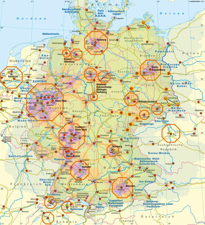Deutschland | Raumordnung (Übersicht) | Deutschland - Raumordnung und Nachhaltigkeit | Karte 72/1