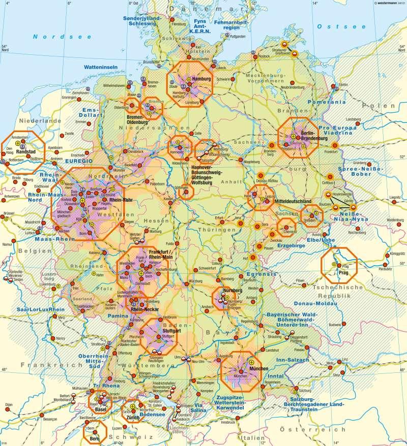 Deutschland | Raumordnung | Besiedlung in Bild und Karte | Karte 13/2