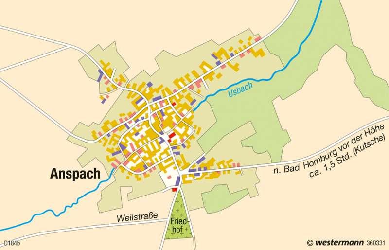 Anspach | Wandel der Dorfstruktur | Deutschland - Wandel ländlicher und städtischer Siedlungen | Karte 76/2