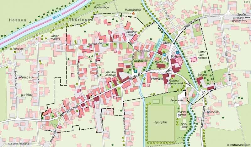 Lauchröden   Dorferneuerung   Deutschland - Wandel ländlicher und städtischer Siedlungen   Karte 76/3