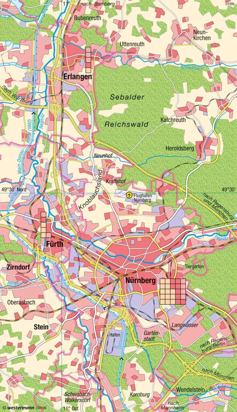 Nürnberg Karte Deutschland.Diercke Weltatlas Kartenansicht Großraum Nürnberg