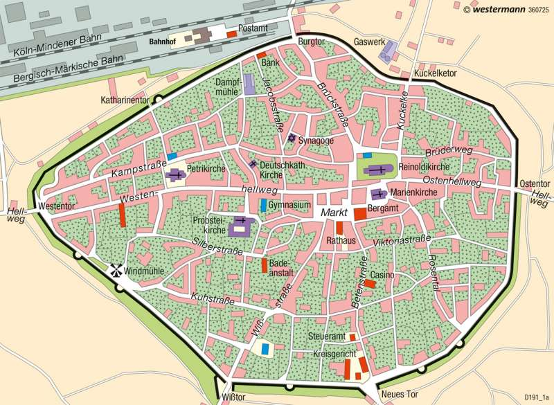 Dortmund | Innenstadt | Deutschland - Historische Stadtentwicklung | Karte 75/4