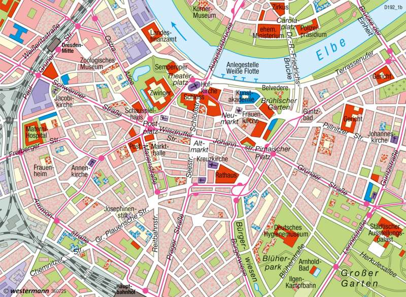 Dresden   Innenstadt   Deutschland - Historische Stadtentwicklung   Karte 75/5