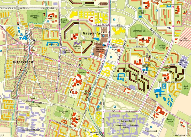 München-Neuperlach | Großwohnsiedlung | Deutschland - Stadtstrukturen | Karte 79/5