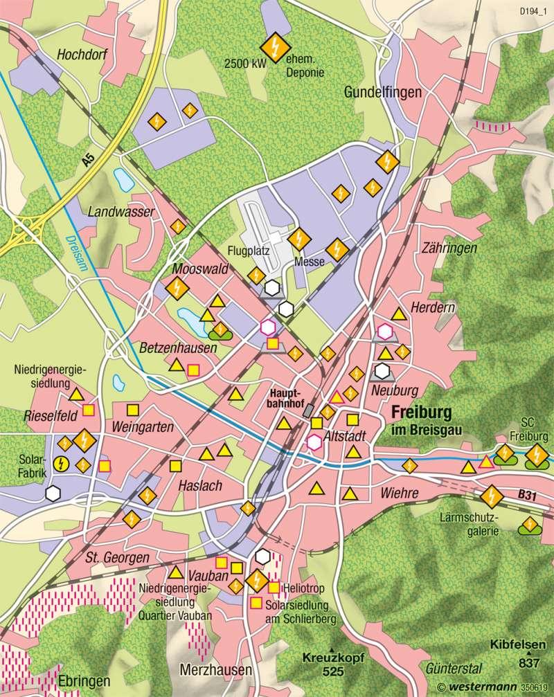 Freiburg im Breisgau   Solarprojekte   Nachhaltige Entwicklungspfade   Karte 49/7