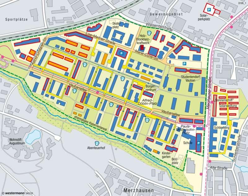 Quartier Vauban (Freiburg)   Nachhaltige Stadtentwicklung   Nachhaltige Entwicklungspfade   Karte 49/8
