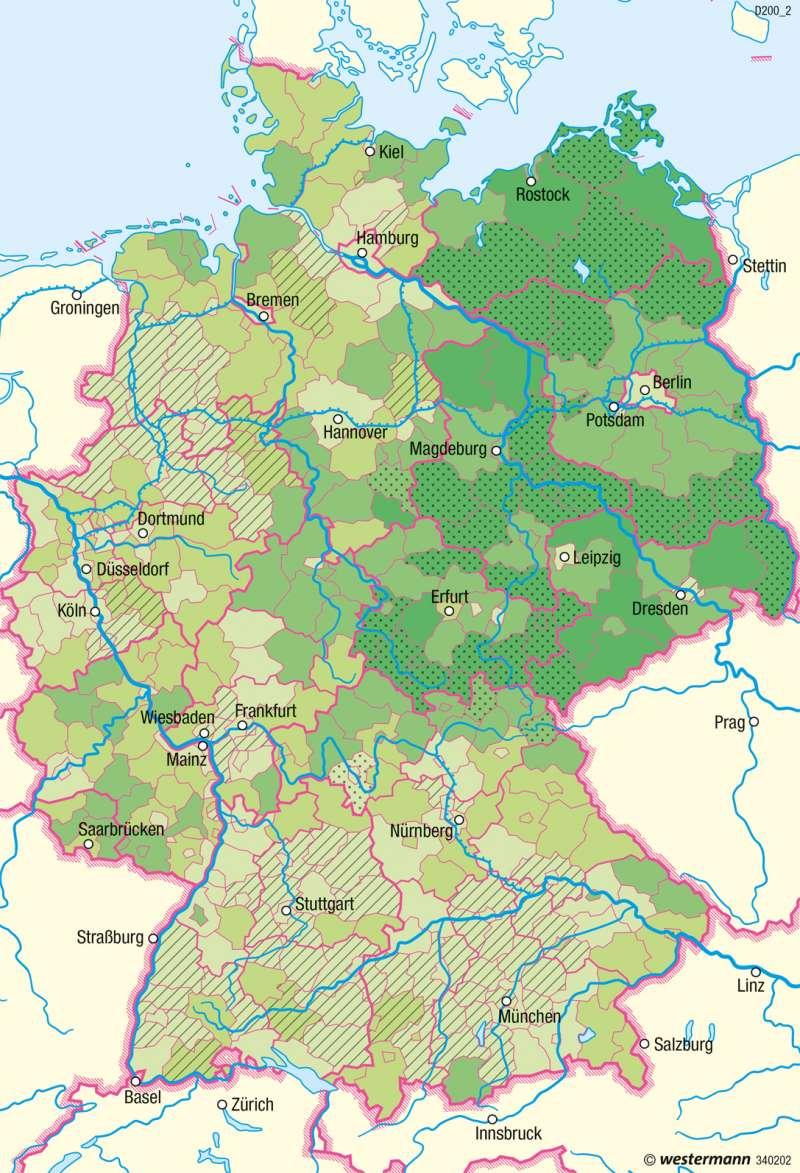 Deutschland | Altersstruktur 2030 | Bevölkerung und Migration | Karte 50/2
