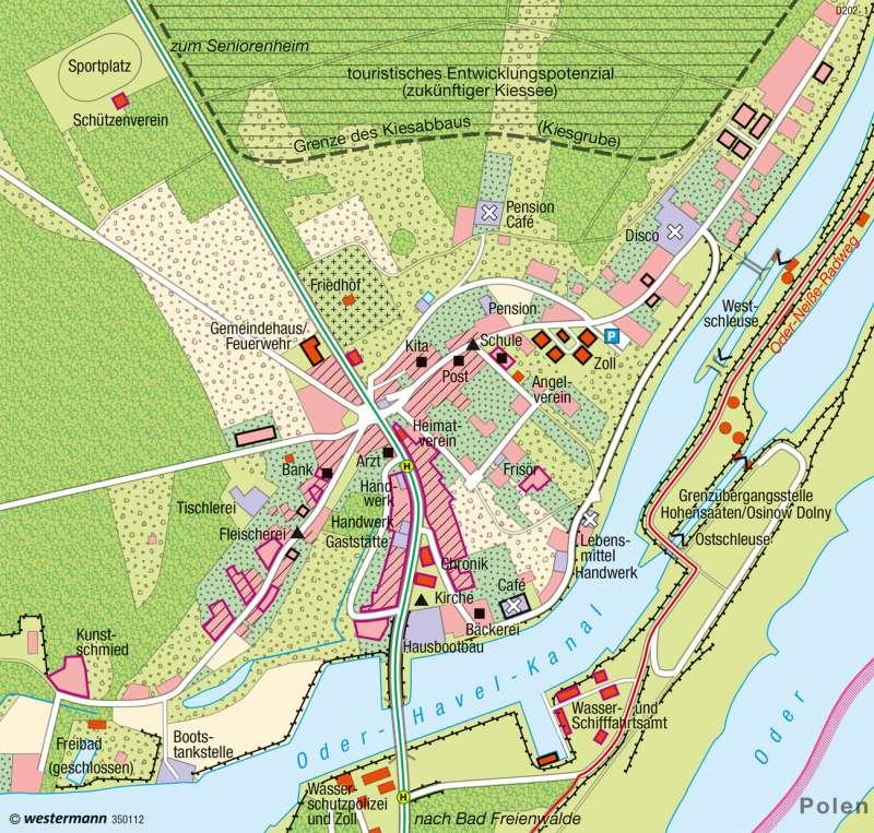 Hohensaaten (Brandenburg) | Überalterung | Deutschland - Bevölkerungsstruktur und -dynamik | Karte 81/8