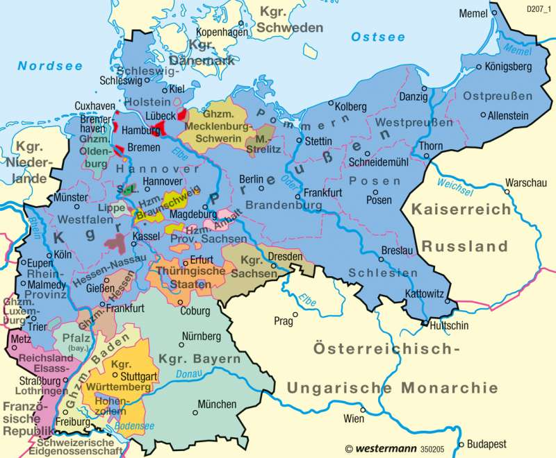 Deutsches Reich | 1900 | Deutschland - Historische Entwicklung | Karte 83/6
