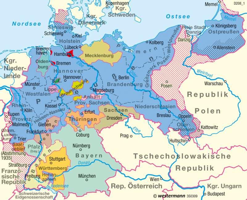 Deutsches Reich   1937   Historische Entwicklung   Karte 53/7