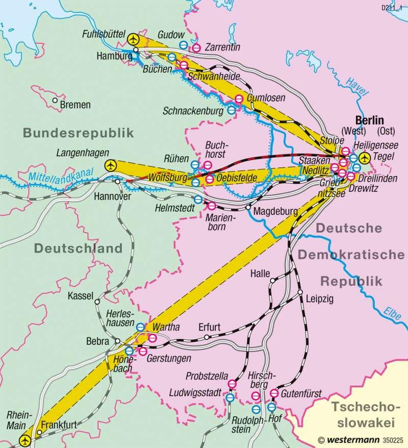 DDR | Berlins Verbindungen zur Bundesrepublik bis 1990 | Historische Entwicklung | Karte 53/10