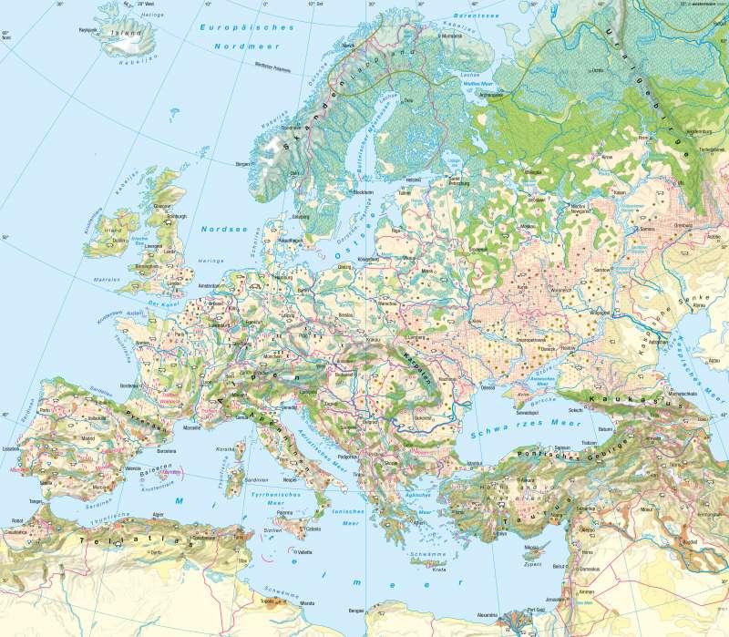 Europa | Landwirtschaft | Europa - Landwirtschaft | Karte 96/1
