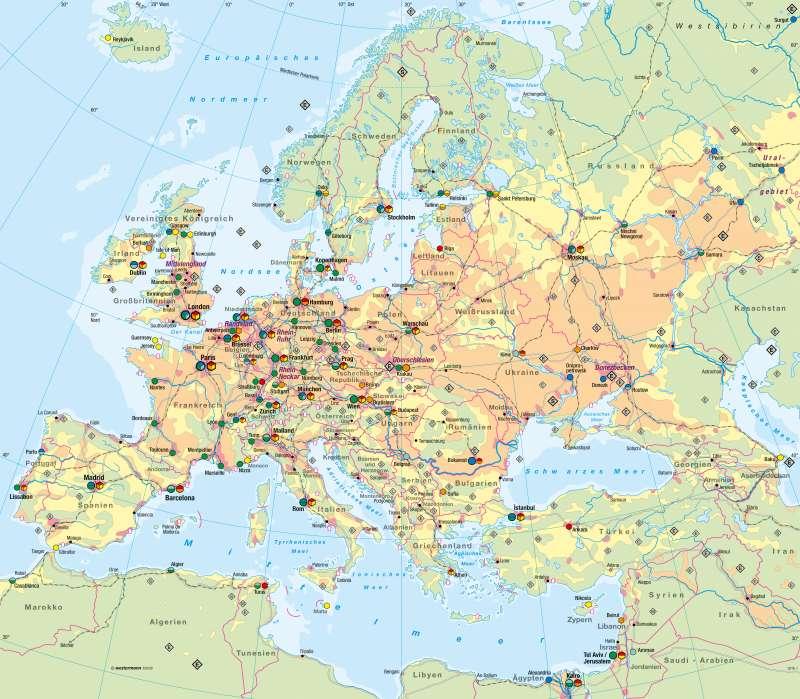 Europa | Wirtschaft | Europa - Wirtschaft | Karte 98/1
