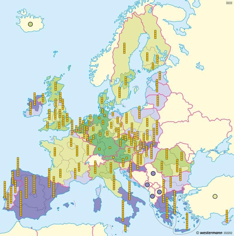Europäische Union | Arbeitslosigkeit | Europäische Union | Karte 100/3