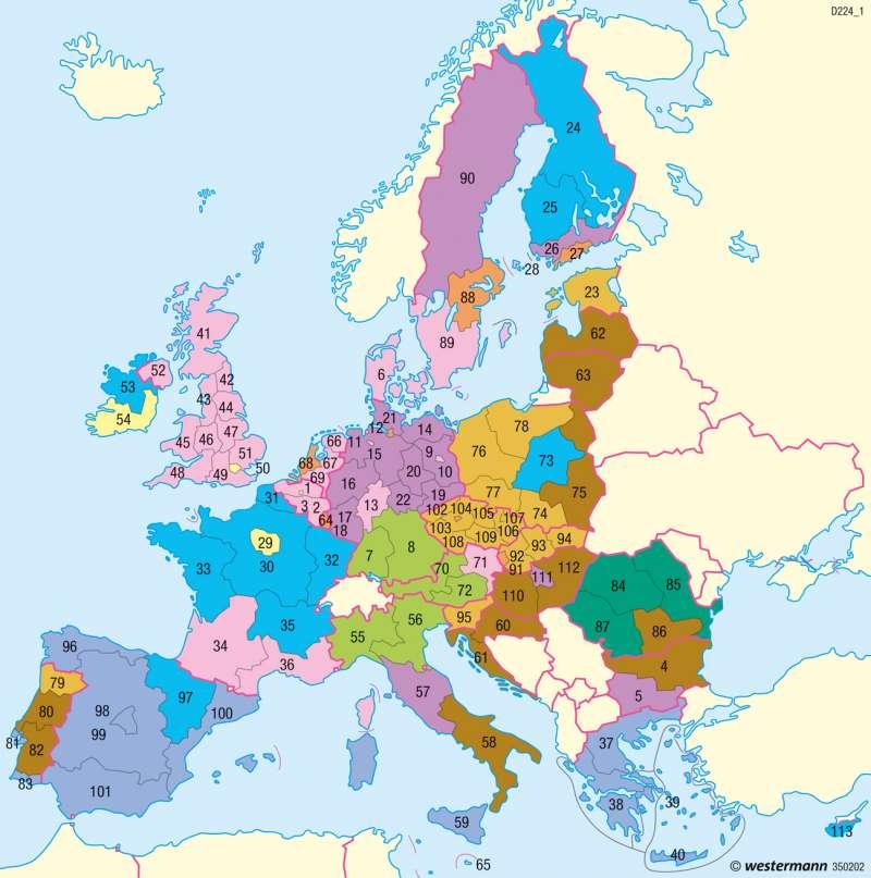 Europäische Union | Regionale Entwicklungsunterschiede | Europäische Union | Karte 101/5