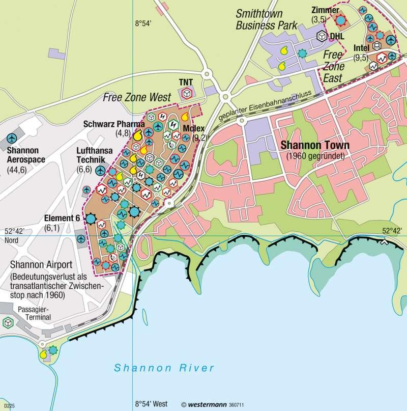 Shannon (Irland) | Regionaler Wachstumspol | Europäische Union | Karte 101/6