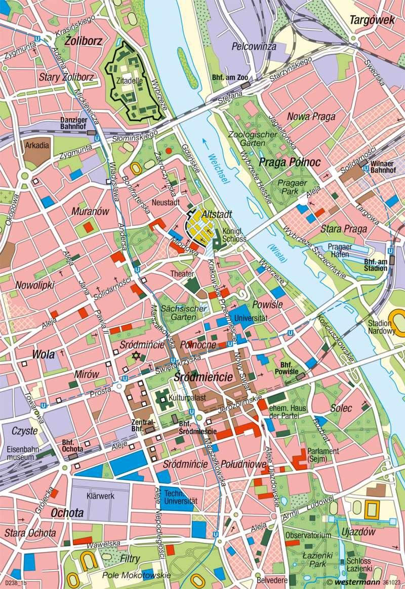 Warschau | Innenstadt | Mitteleuropa - Transformation und EU-Integration | Karte 112/1