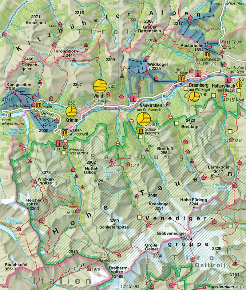 Oberpinzgau | Tourismus und Naturschutz | Alpen - Tourismus und Umwelt | Karte 117/3