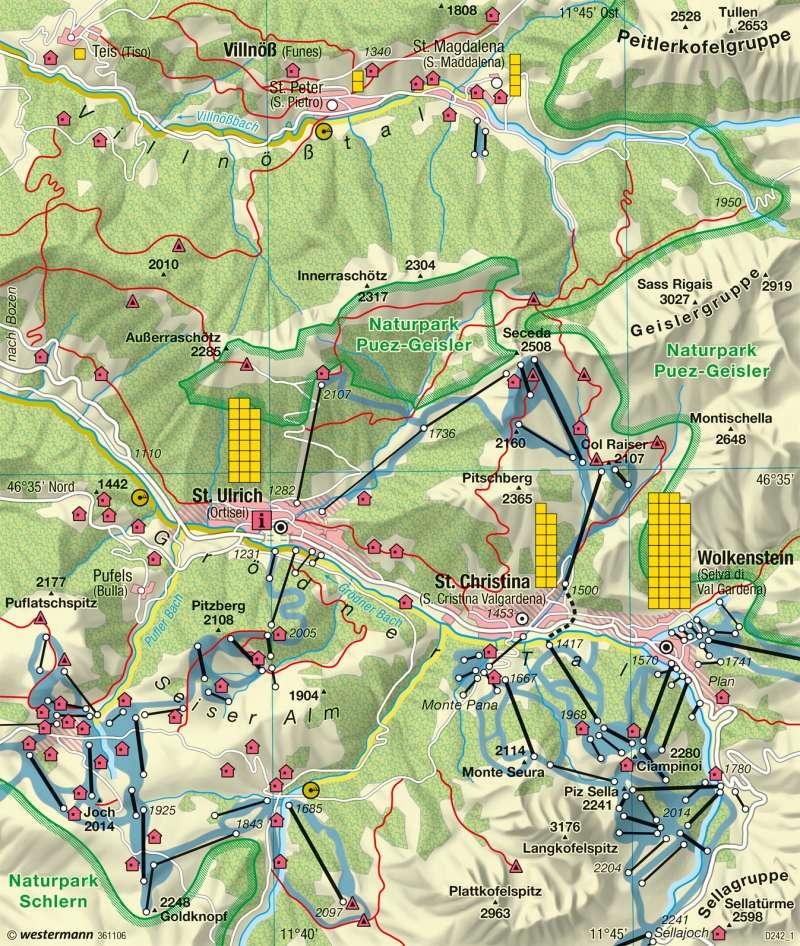 St. Ulrich | Tourismus und Umweltbelastung | Alpen - Tourismus und Umwelt | Karte 117/4