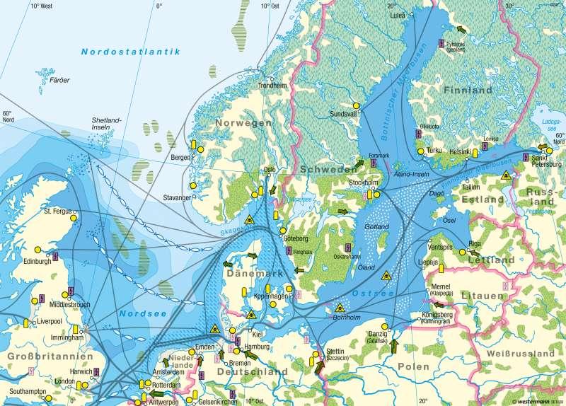 Diercke Weltatlas Kartenansicht Nordsee Und Ostsee