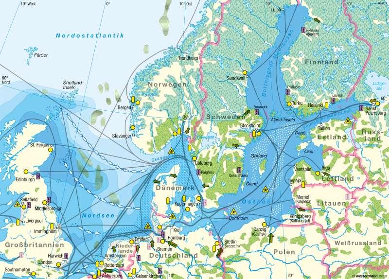 Nord- und Ostsee | Umweltbelastung | Küstenschutz und Umwelt | Karte 75/2