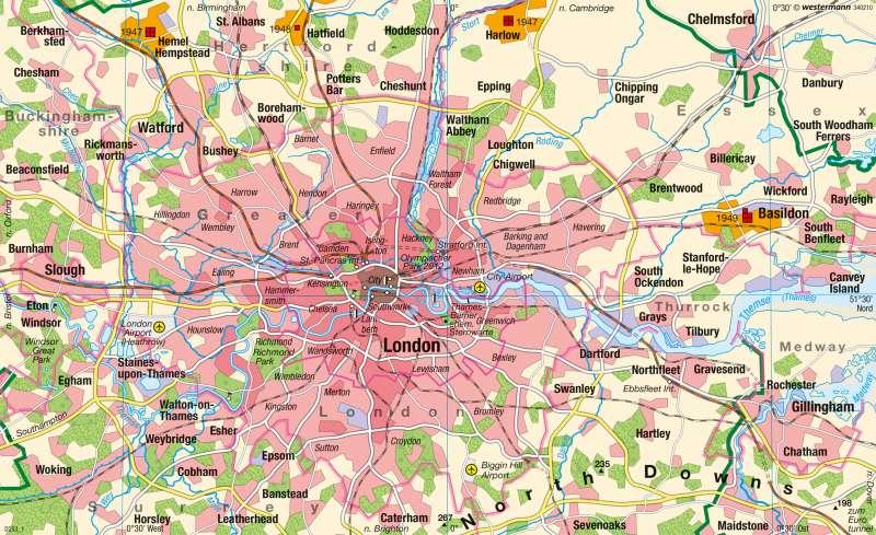 London | Übersicht |  | Karte 81/2