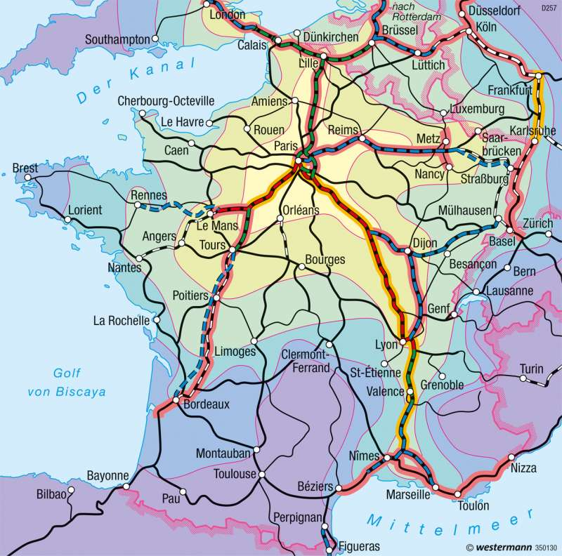 Frankreich | Bahnverkehr | Frankreich - Erschließung | Karte 129/2