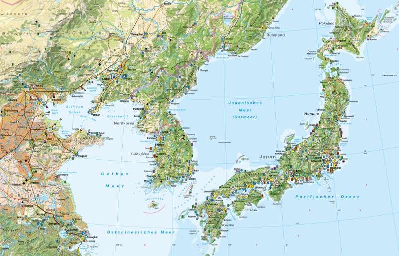 Ostchina, Korea, Japan | Wirtschaft | Ostchina, Korea, Japan - Wirtschaft | Karte 190/1