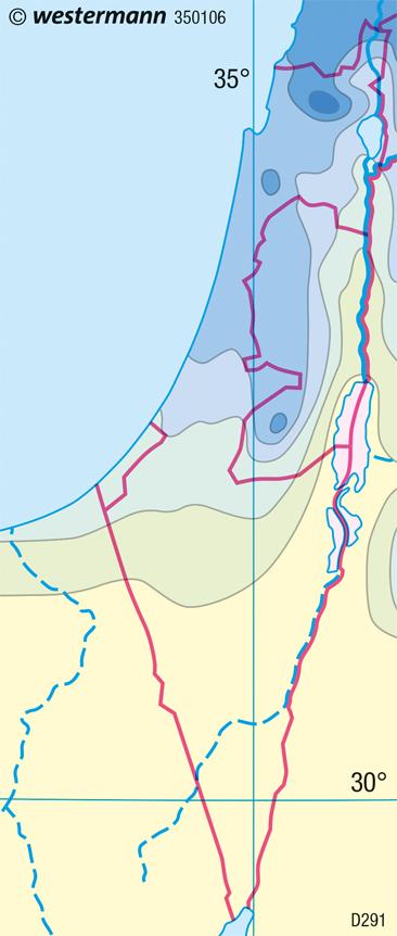 Naher Osten (Israel) | Niederschlag | Naher Osten (Israel) | Karte 179/5