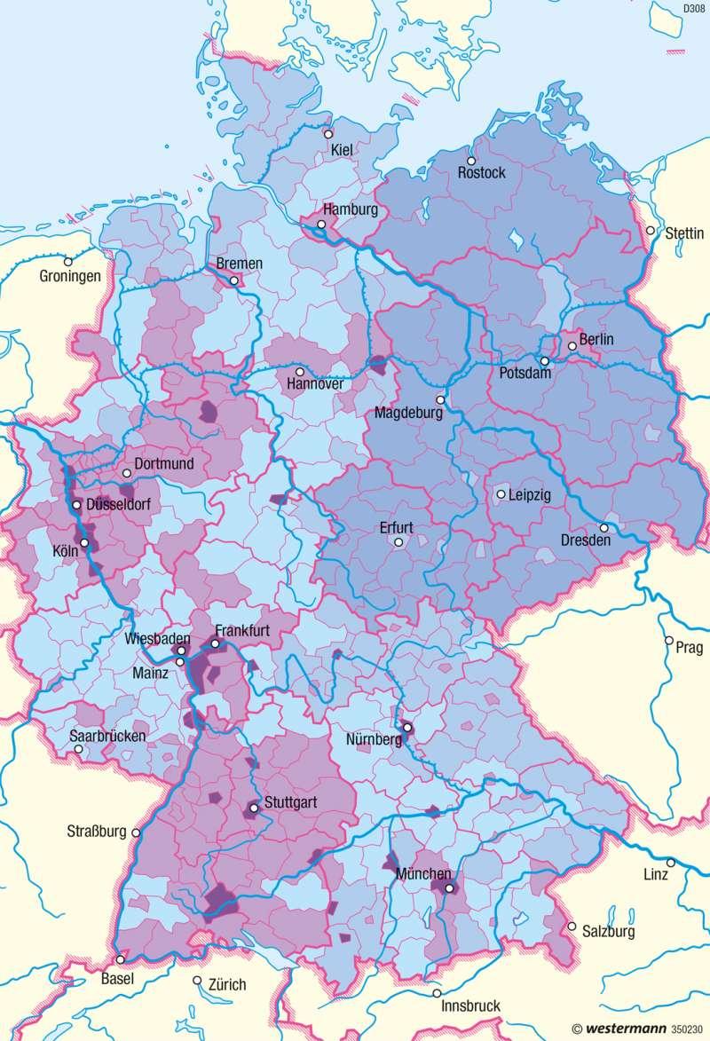 Deutschland | Migrationshintergrund | Deutschland - Bevölkerungsstruktur und -dynamik | Karte 80/1