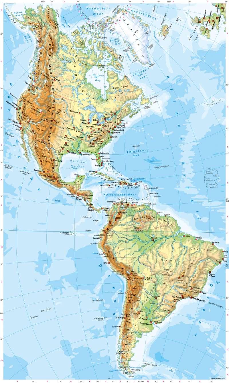 Amerika | Physische Übersicht | Physische Übersicht | Karte 144/1