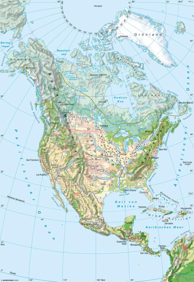 Nord- und Mittelamerika | Landwirtschaft | Nord- und Mittelamerika - Landwirtschaft | Karte 209/5