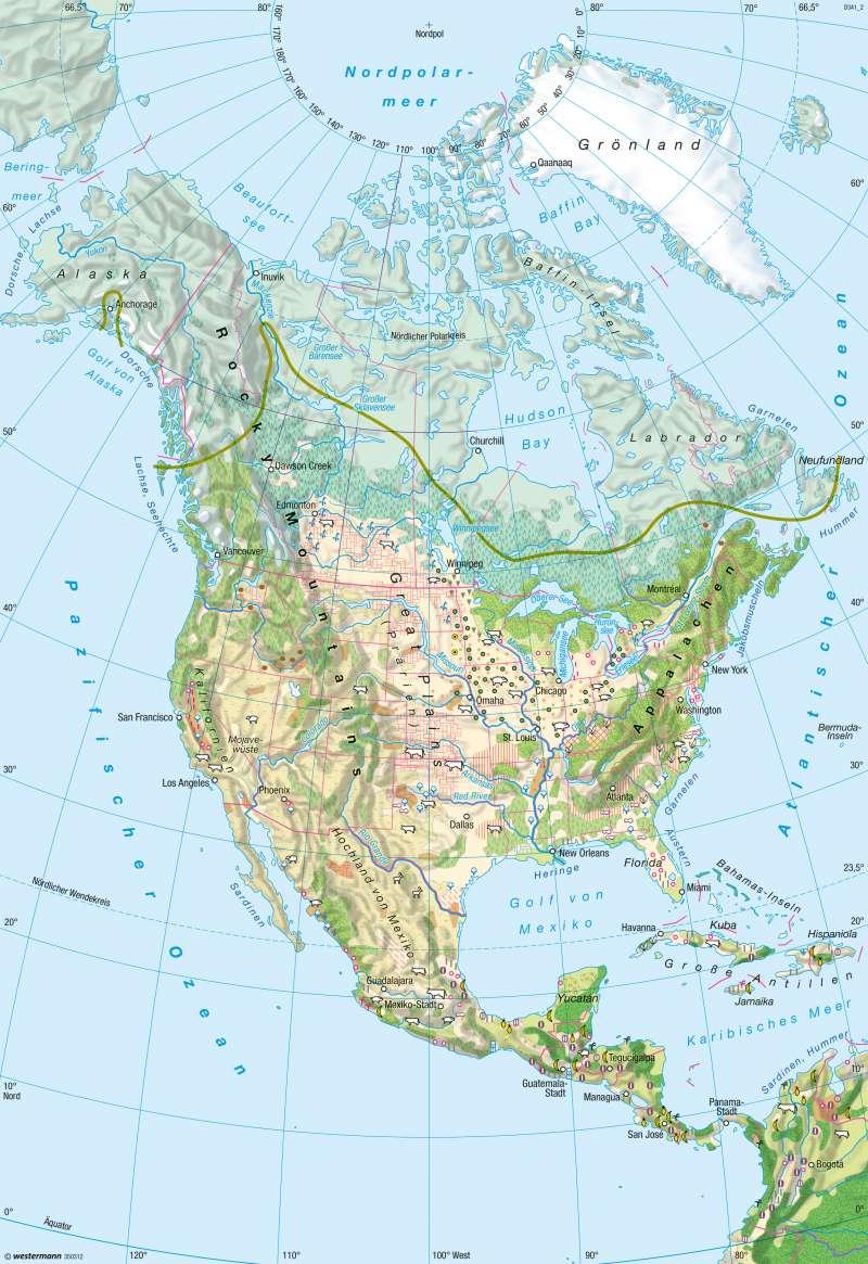 Nord- und Mittelamerika | Landwirtschaft | Landwirtschaft | Karte 147/5