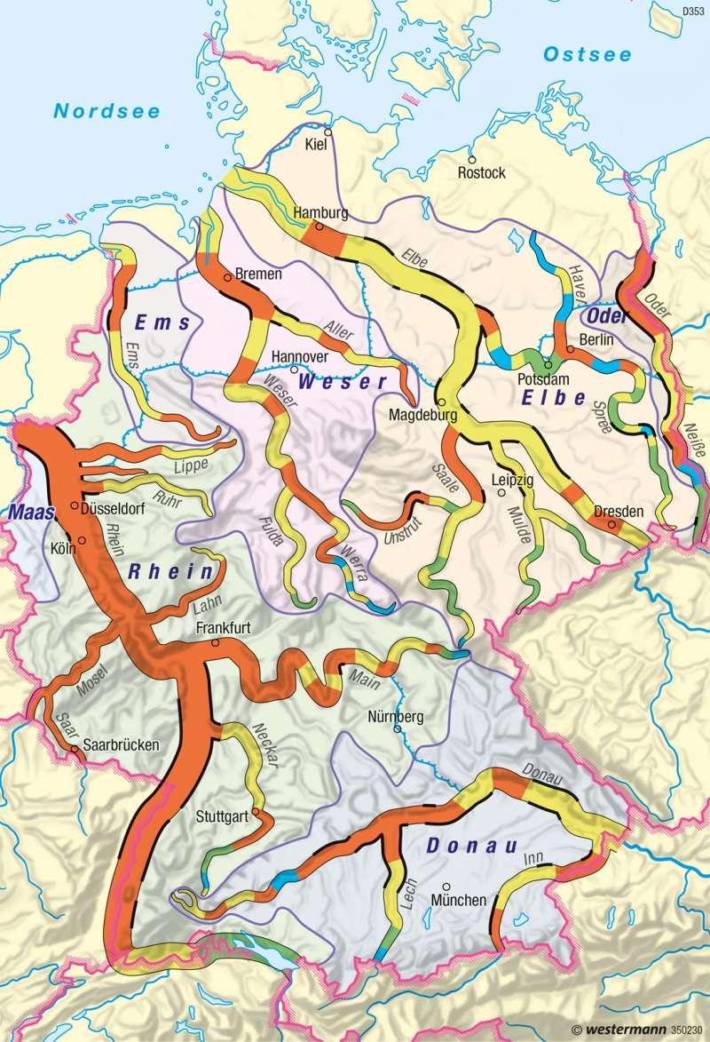 Deutschland | Gewässerstrukturgüte | Deutschland - Umwelt und Klimawandel | Karte 61/5