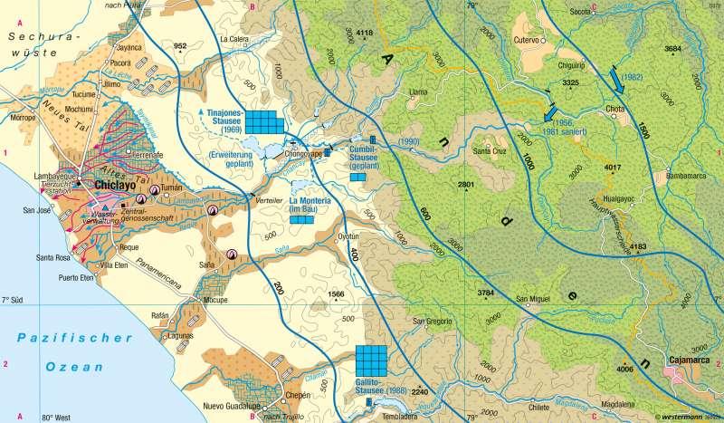 Tinajones (Peru)   Bewässerung   Südamerika - Intensive und extensive Landwirtschaft   Karte 235/5