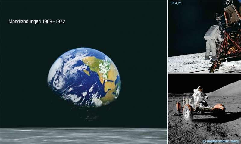 Die Erde aus Mondsicht         Karte 196/2